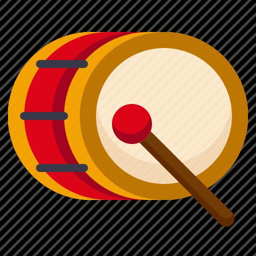 amusement, bass drum, carnival, circus, music, musical instrument, parade icon