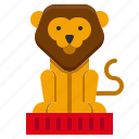 amusement, animal, attractions, carnival, circus, lion, parade icon