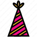 anniversary, carnaval, celebration, cones, event, festival, party icon