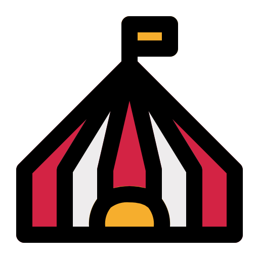 carnival, circus, marquee, show, tent icon