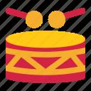 carnival, drum, drummer, instrument, musical, stick icon