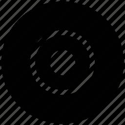 bullseye, dartboard, disc, goal, target icon