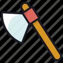 axe, carpenter, hatchet, tool, work icon