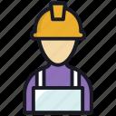 carpenter, helmet, labour, man, worker