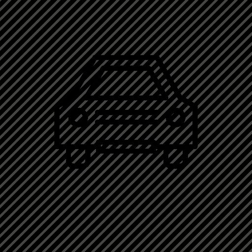 car, city, family, old, street icon