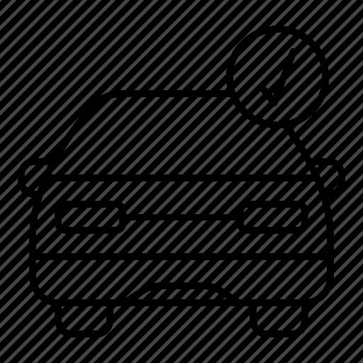 arrow, auto, car, check, transport, vehicle icon