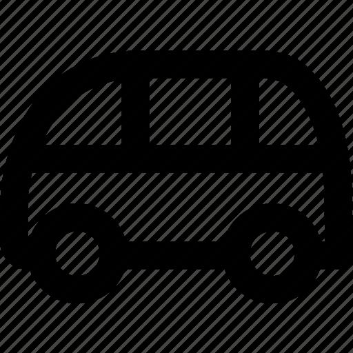 auto, automobile, bus, car, public, small bus, vehicle icon