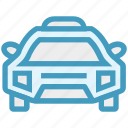 auto mobile, car, police car, transport, vehicle icon