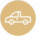 auto mobile, car, pickup truck, transport, vehicle icon
