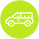 auto mobile, car, minivan, transport, vehicle icon