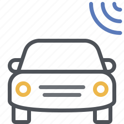 car connection, car tracker, car transmitter, connected car, signal, transponder, wireless signal icon
