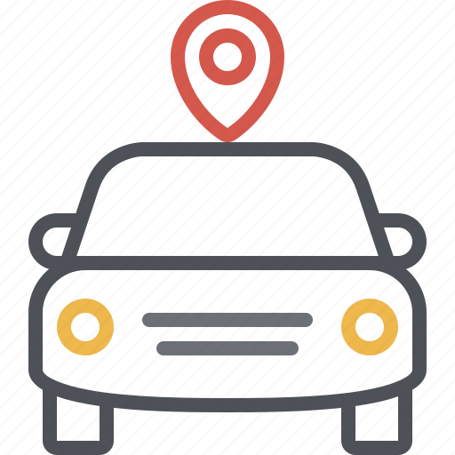 car, location, map, navigation, parking, pin, vehicle icon