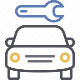 car service, garage, mechanic, repair, repair shop, vehicle, wrench icon
