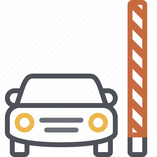 barrier, car, check point, checkpoint, parking, parking gate, parking lot icon