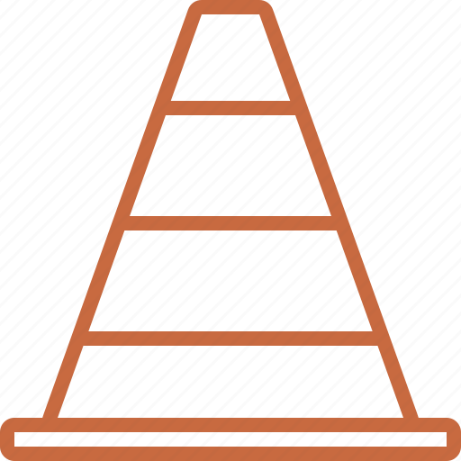 cone, construction, road, safety cone, street, traffic, traffic cone icon