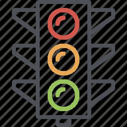 city traffic light, road, stop light, street, traffic, traffic light, traffic signal icon