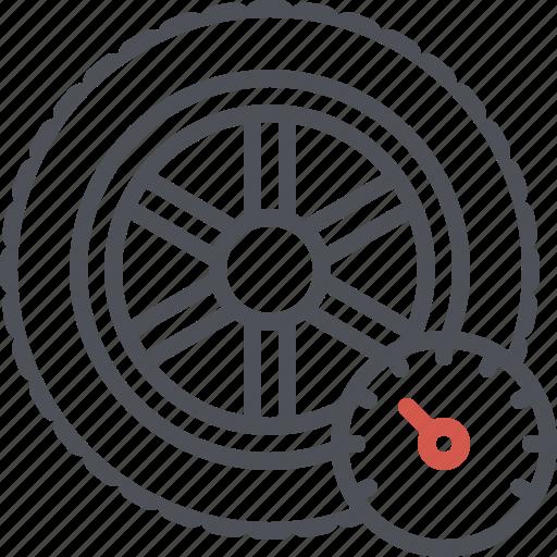 car tire, pressure, rim, rubber tire, tire, tyre, wheel icon