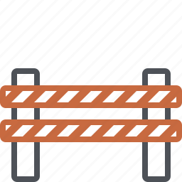 barricade, barrier, barrier sign, car, gate, road sign, stop icon