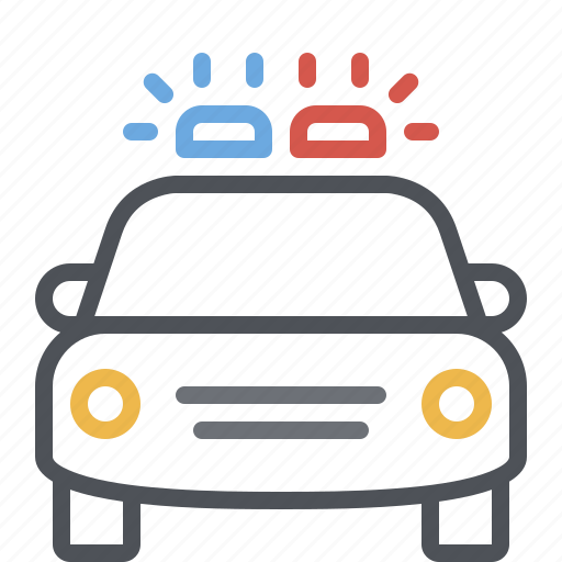 car, emergency, law enforcement, patrol, police, siren, vehicle icon