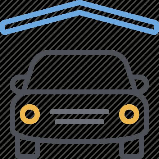 car, garage, parking, parking lot, parking space, roof, vehicle icon