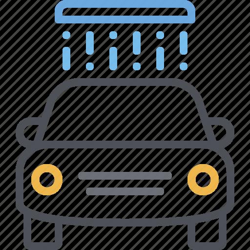 car wash, carwash, clean, drive thru, vehicle, washing, water icon