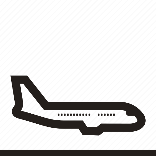 aeroplane, aircraft, airliner, airplane, flying machine, passenger plane, plane icon