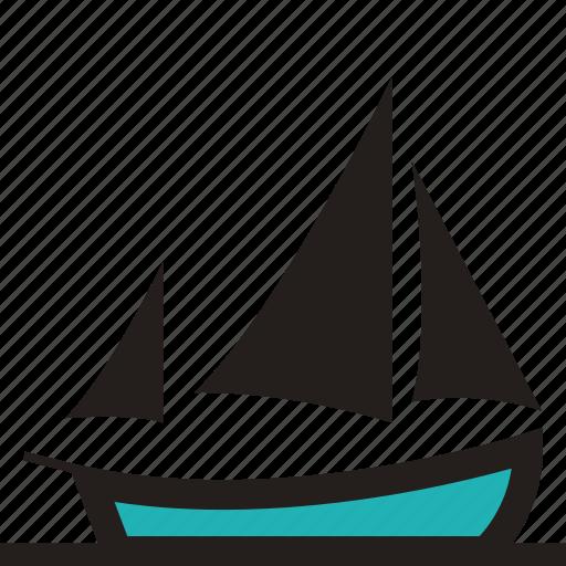 boat, fishing ship, lugger, lugger ship, sailing, sailing ship, ship icon