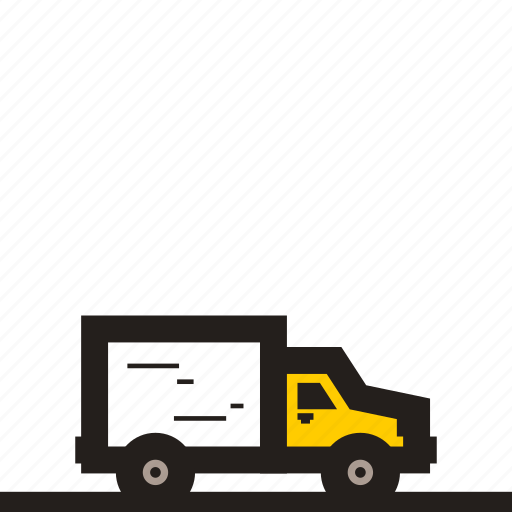 box truck, business car, logistics car, logistics truck, small box truck, small truck, truck icon