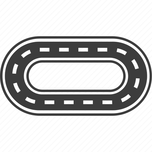 car racing, race track, racing, road, track icon