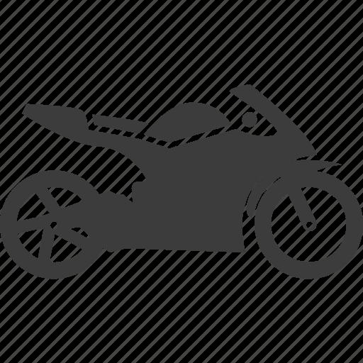 motor bike, motorcycle, racing, vehicle icon