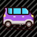 van, microvan, car, light, automobile icon