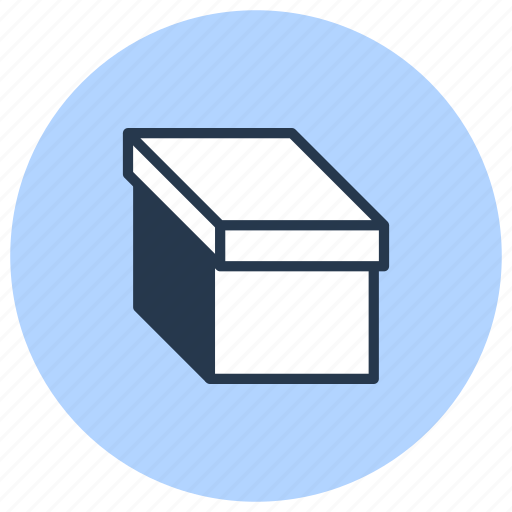 box, cardboard, carton, lid, pack icon
