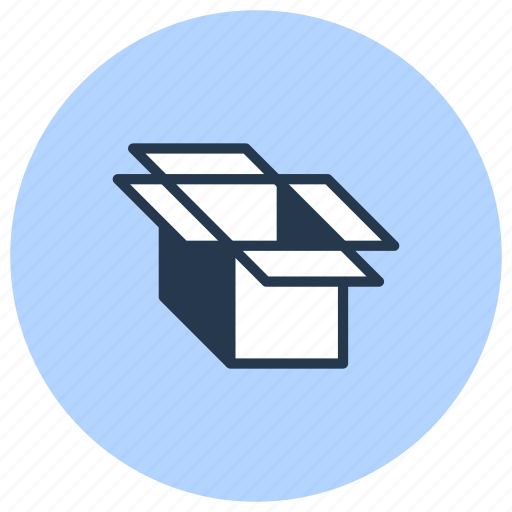 box, cardboard, carton, delivery, open, pack icon