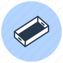 box, cardboard, carton, pack, pallet icon