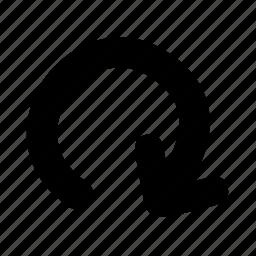 arrow, recycle, restart icon