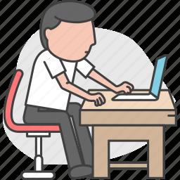 office, staff, worker, working icon
