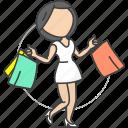 girl, shopping, women icon