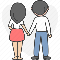 amativeness, couple, love, lover, together, valentine icon