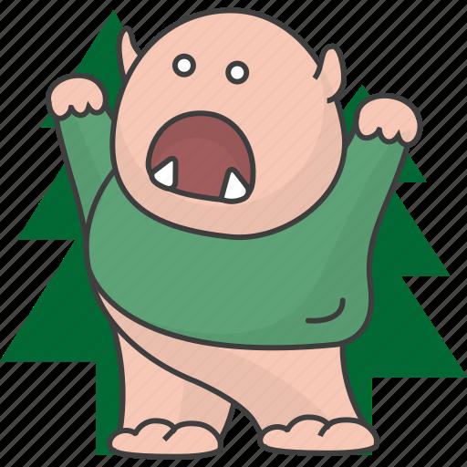 bugbear, eccentric, freak, monster, monstrosity, ogre icon