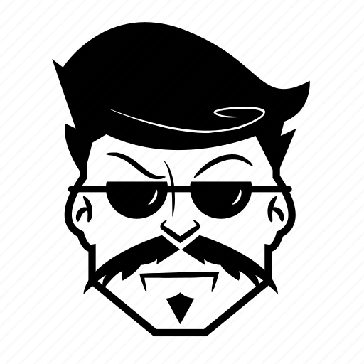 artist, cool, face, male, man, mustache icon