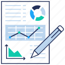 analytics, business presentation, efficiency report, financial report, productivity analysis icon