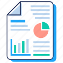 business chart, business document, diagram, graphical report, pie graph icon