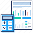 accounting report, analytics, efficiency report, financial report, productivity analysis icon