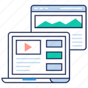 online video, user interface, video guide, video tutorial, web video icon