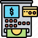 atm, machine, cash, banking, withdraw