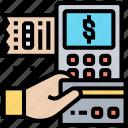 credit, card, machine, payment, receipt