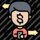 money, transfer, transaction, online, payment