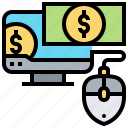 bank, click, finance, money, pay icon