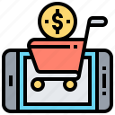 mobile, payment, sale, shopping, smartphone icon