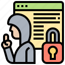 cybercrime, hacker, protection, security, threat icon